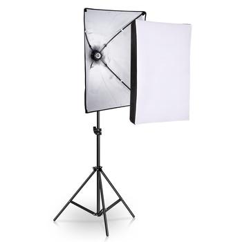 Fotostudioutrustning fotografering softbox belysningssats 50x70cm professionellt kontinuerligt ljussystem softbox