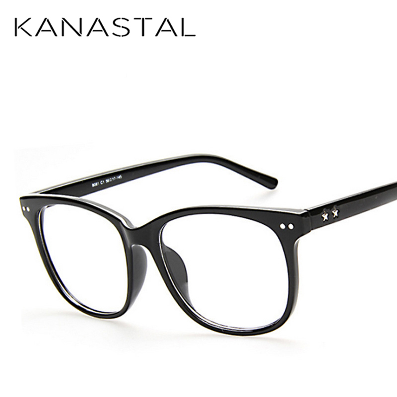 KANASTAL Eyewear Glasses Frame Leopard Square Frame For Women Clear Glasses Non-Prescription Eyeglasses