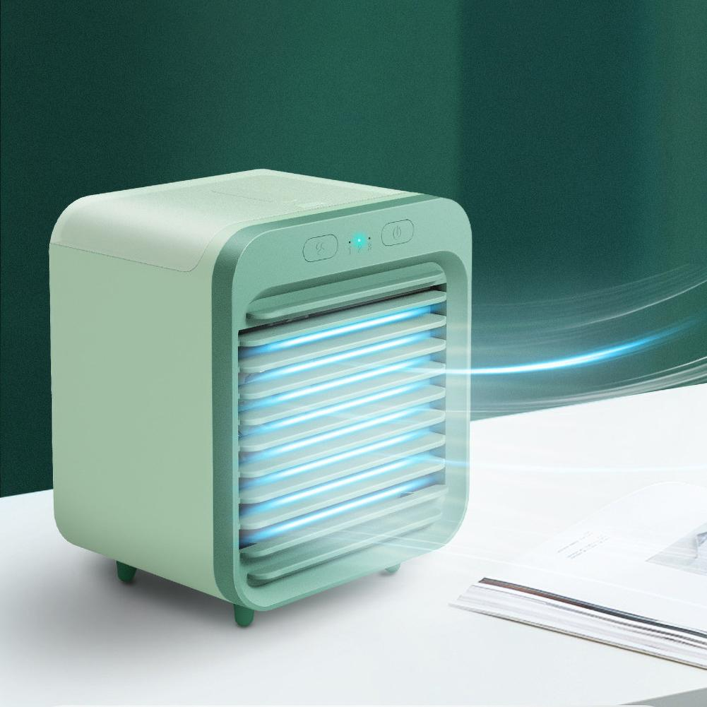 Mini 5000mAh Rechargeable USB Air Conditioner Cooler Humidifier Desk Cooling Fan Fast Cooling, Brings You Coolness In Hot Summer