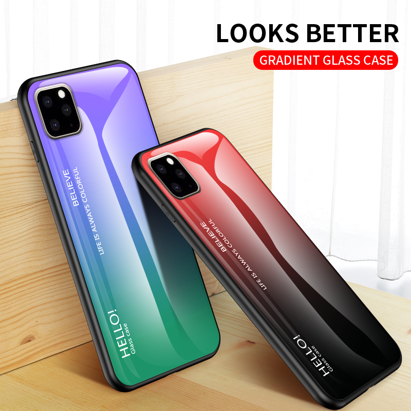 Ollyden Gradient Tempered Glass Cases for iPhone 11/11 Pro/11 Pro Max 4