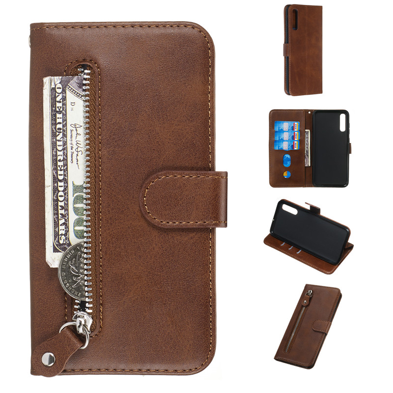 Leather Flip Wallet Zipper Samsung Galaxy Cover