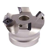цены на Km12R63-22-4T Four Sekt1204 Carbide Inserts Fast-Feeding Alloy End Mills Milling Slab Face Milling Cutter  в интернет-магазинах