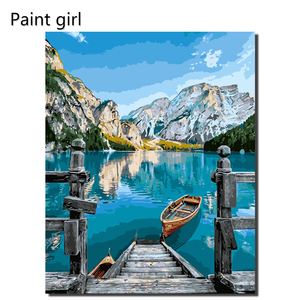 Painting By Numbers Scenery DIY Oil Coloring By Numbers Sea View Canvas Paint Art Pictures Home Decor VA-2156