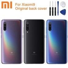 Xiao Mi Xiaomi Mi Original Glas Batterie Hinten Fall Für Xiaomi MI 9 Mi9 Xiao mi 9 telefon batterie Zurück Abdeckung Backshell + werkzeug