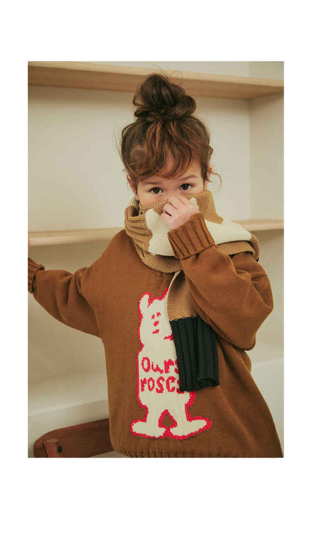 Kids Sweaters New Winter Korean Brand Boys Coat Girls Knit Print Pullover Baby Toddler Children Cotton Fashion Toddler Clothes 6