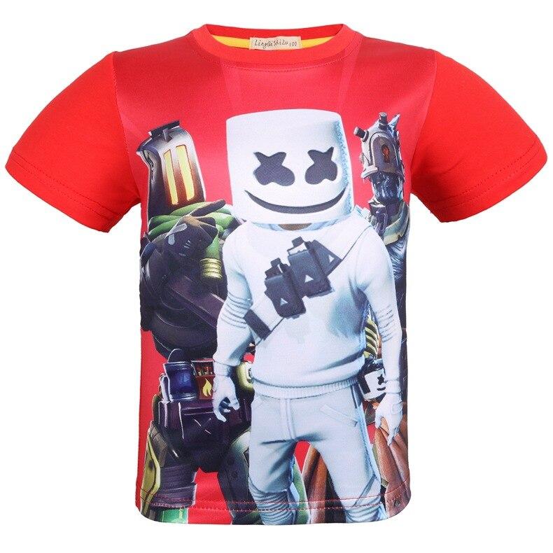 Fortress Men Tong Duan Xiu T-shirt Half Sleeve Game Flower Sugar Summer CHILDREN'S Jacket Base Big Kid T-shirt 8387