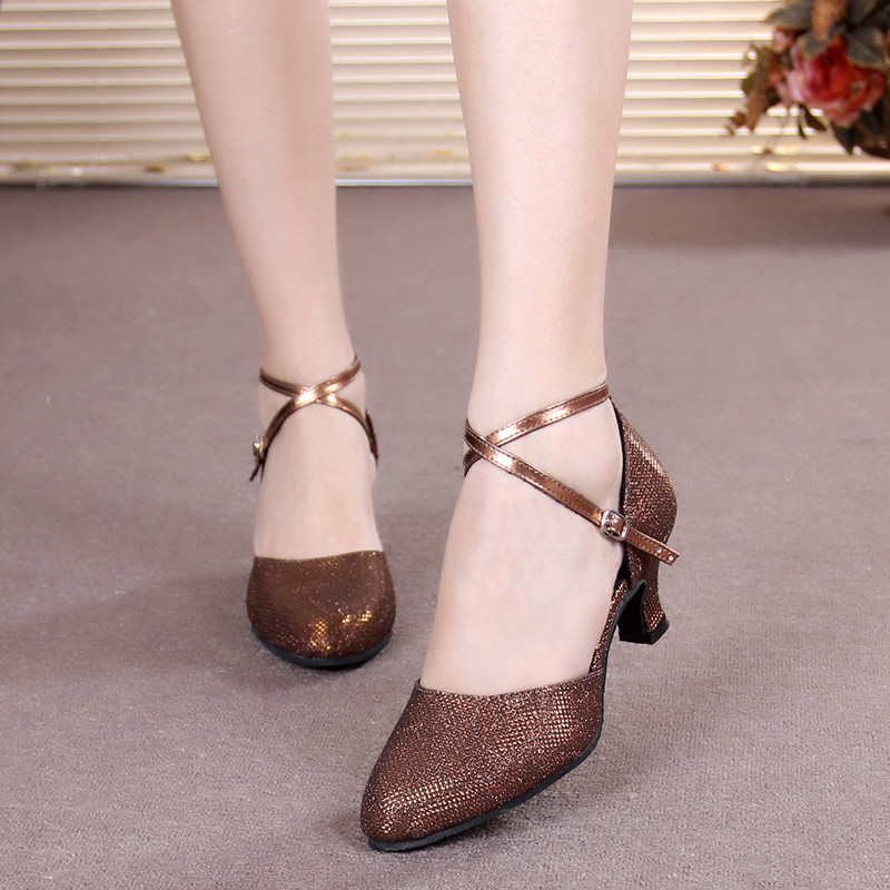 Women Latin Dancing Shoes Female High Heel Sandals Ladies Girls Ballroom Dancing Shoes Women Social Tango Dance Sneakers Women