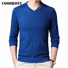 COODRONY Brand Sweater Men Classic Casual V-Neck Pullover Men Clothes Spring Autumn Knitted Soft Cotton Pull Homme Shirt C1037