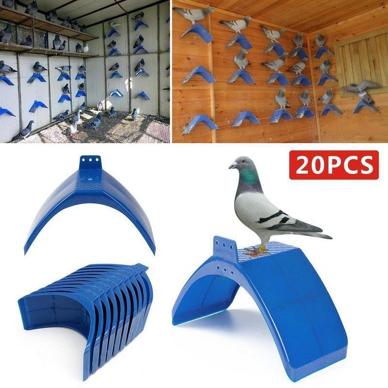20pcs Plastic Pigeon Bird Rest Stand Part Fashion Parrots Dove Frame Dwelling Perches Bird Supply High Quality 20*10*12cm