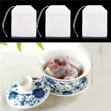 New Arrival 100/200Pcs Empty Scented Tea Bag with Stringed Seal Filter Herb Spice Teabags Disposable Durable