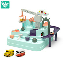 2020 Macaron Track 2 Car Carro Simulation Vehicles Children Adventure Rail Toys Kids Xmas Gifts Brinquedos Juguetes Over 3 years