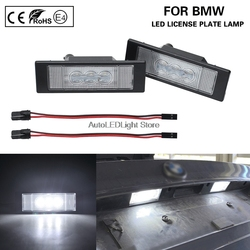 2pcs LED Number License Plate Light Lamp For BMW E81 E87 E63 E64 F20 F12 F13 Z4 E85 E86 E89 K48 F06 MINI R55 R55N R60 R61 Fiat