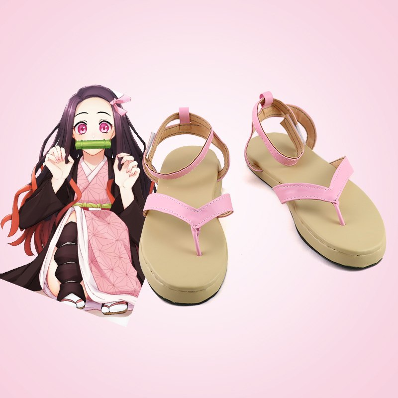 Anime Demon Slayer: Kimetsu no Yaiba Kamado Nezuko shoes cosplay adults men and women boots shoes Halloween Fashion sandals