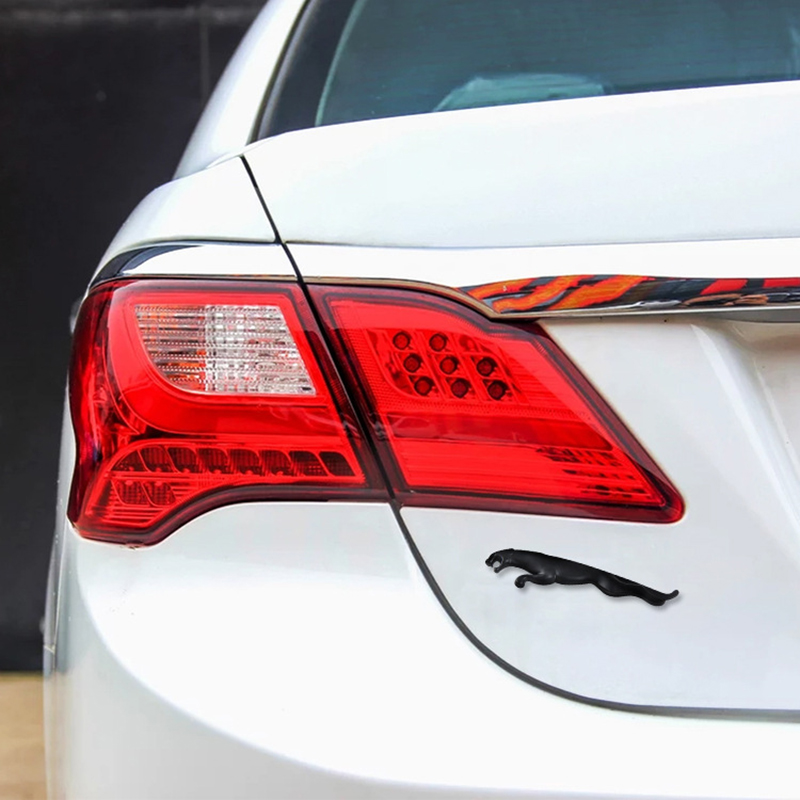 Silver 3D Car Rear Trunk Decal Emblem Badge Sticker For Jaguar XF XJ XJL XK F