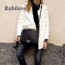 Rubilove Artificial fur coat 2019 Women Faux Fur Coat  Winter Autum Warm Jacket Female Outerwear Womens Plus Size