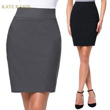 Kate Kasin Women's Sexy High Waist Pencil Skirt Of