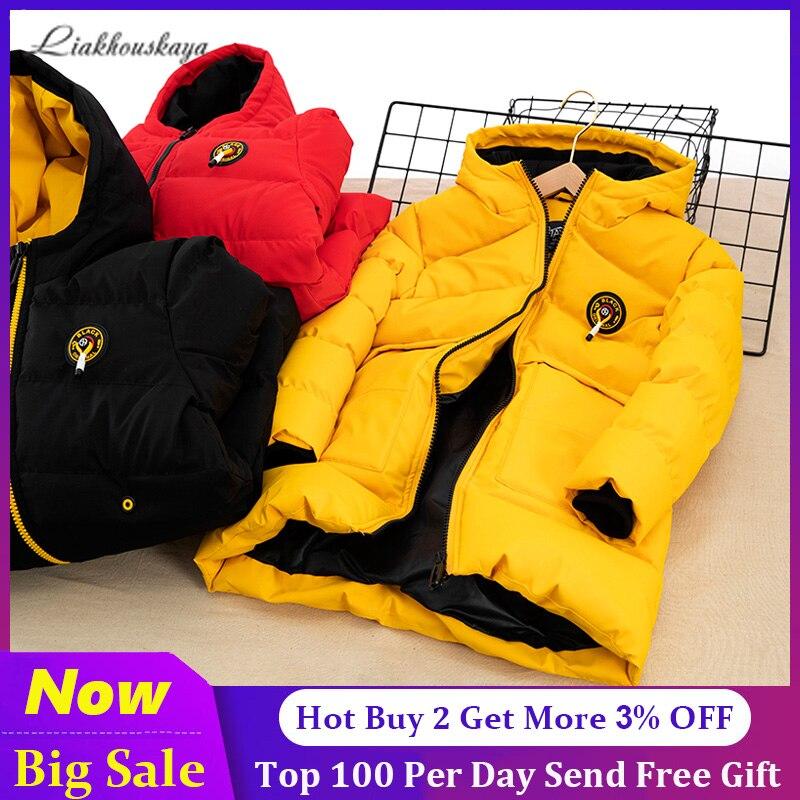 -30 для русской зимы; Зимние пальто; 2020 детская одежда куртка для снежной погоды; Водонепроницаемый на открытом воздухе с капюшоном пальто дл...