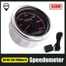 Одометр с GPS, 85 мм, 60 км/ч, 120 км/ч, 200 км/ч, с красной подсветкой