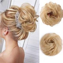 AISI заколка для волос, накладные волосы, пучок, кудрявый, Dount Updo, синтетический эластичный шиньон, аксессуары для волос, Термостойкое волокно