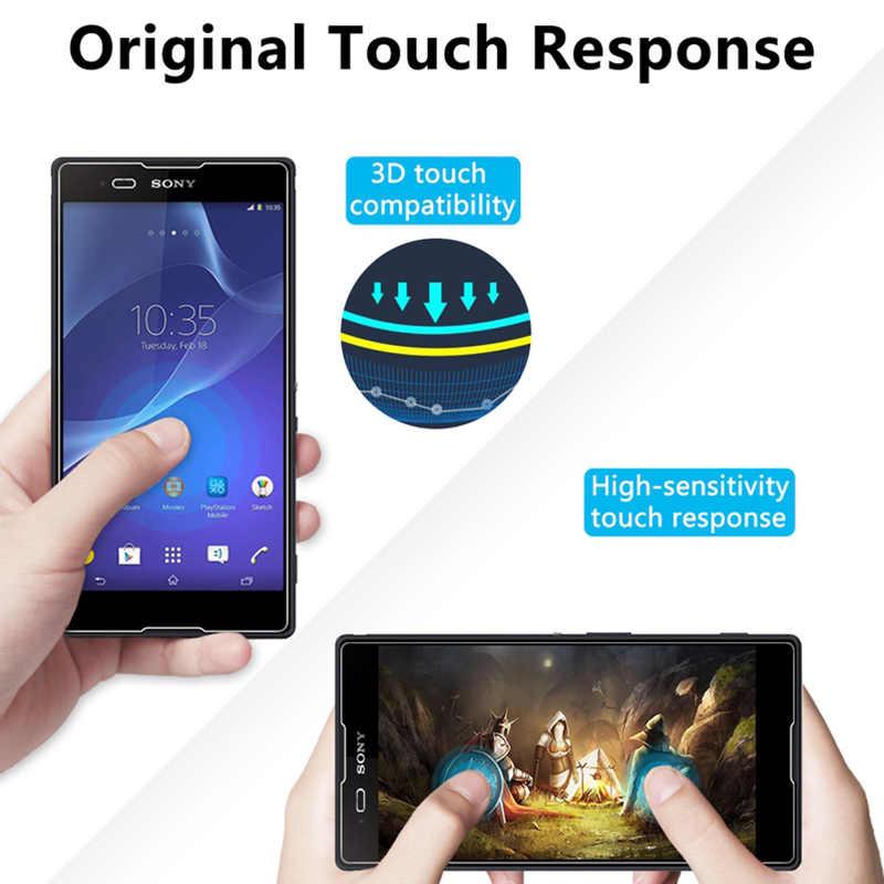 9H HD Kính Cường Lực Cho Sony Xperia T2 Cực T3 Bảo Vệ Màn Hình Trong Cho Sony L1 L2 R1 Plus Bảo Vệ kính Xperia E3 E4 E4g E5