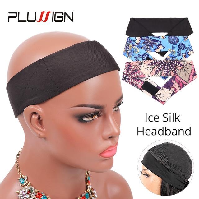 1-2Pcs/Lot Black Pink Soft Headband With Adjustable Velcro Head Band Wig Making Band Wig Grip Headband Non Slip Diy Wig Tools