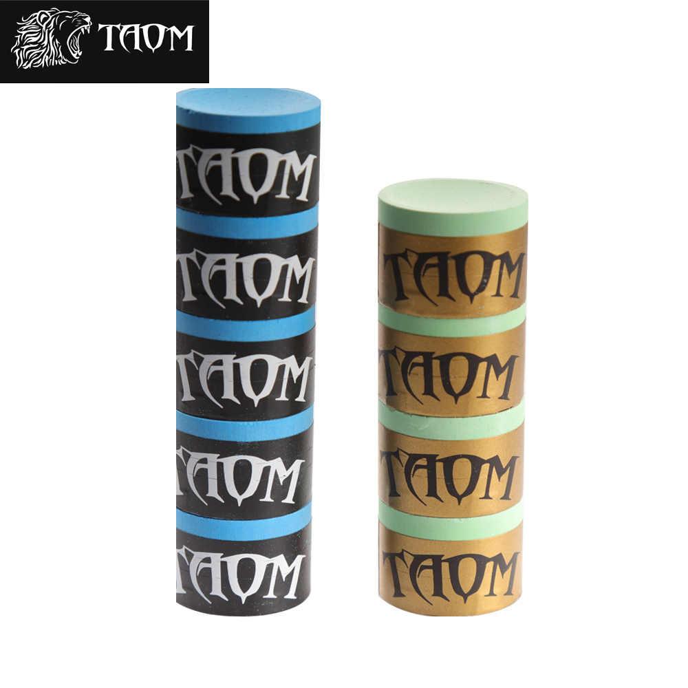 TAOM Piro tiza/TAOM tiza blanda optimizada para piscina, billar de pirámide y Carom yeso para billar profesional juego de billar Snooker