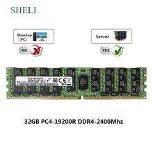 Sheli 32 gb 2rx4 DDR4-19200L DDR4-2400mhz carga de 288pin 1.2 v reduziu a ram do servidor lrdimm