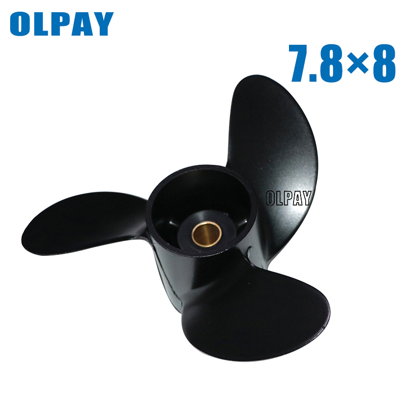 Aluminum Propeller 3R1W64516-0  For Tohatsu 4-6HP,propeller For Mercury 2 Stroke 6HP Boat Engine