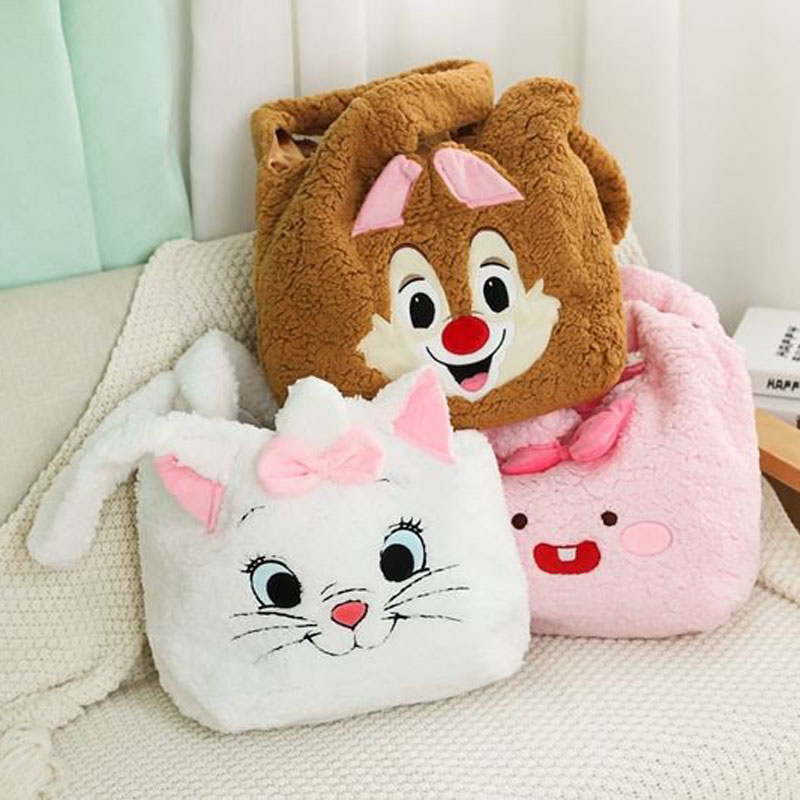 candice guo! cute plush toy cartoon Marie cat Stitch Dumbo elephant bear pink rabbit soft shoulder bag birthday Christmas gift