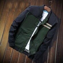 Новые тонкие мужские пальто пэчворк осенние модные мужские повседневный пиджак, куртка с воротником-стойкой с длинными рукавами спортивные куртки
