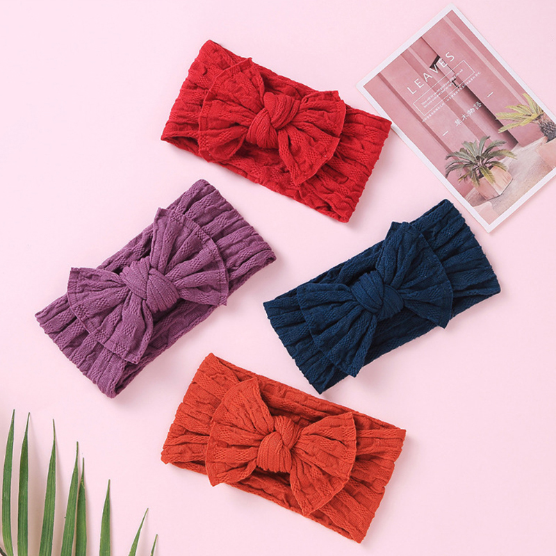 27 Pcs/lot Turban Headband Baby Knot Bows Headwraps Solid Soft Newborn Photography Props Diademas Toddler Girls Bows Headband