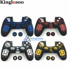 For Playstation dualshock 4 PS4 Pro Slim Controller Pattern Silicone Skin Soft Rubber Protective case