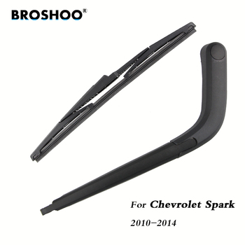 цена на BROSHOO Car Rear Wiper Blades Back Windscreen Wiper Arm For Chevrolet Spark Hatchback (2010-2014) 310mm,Windshield Auto Styling