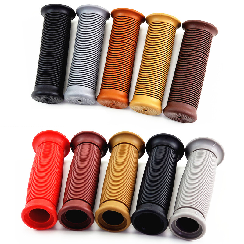 Rubber 22MM Moto Handlebar Retro For Harley Style Parts Universal Motorbike Accessories Motorcycle Grip image