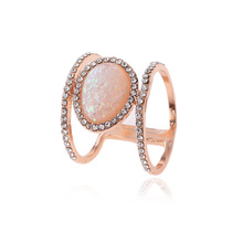 2019 New 3 Colors Vintage Women Wedding Ring & Engagement Antique Oval Moonstone US Size 6.7.8.9.10