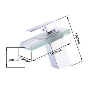 Image 4 - Phòng Tắm Thác Led Lưu Vực Vòi Kính Thác Đồng Làm Lưu Vực Vòi Nhà Tắm Vòi Nước Sàn Chậu Rửa Vòi Nước