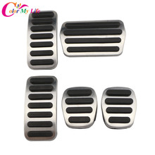 Color My Life AT MT Stainless Steel Car Styling Pedals Car Pedal Protection Cover for Volvo V40 2012 - 2020 Parts Accessories