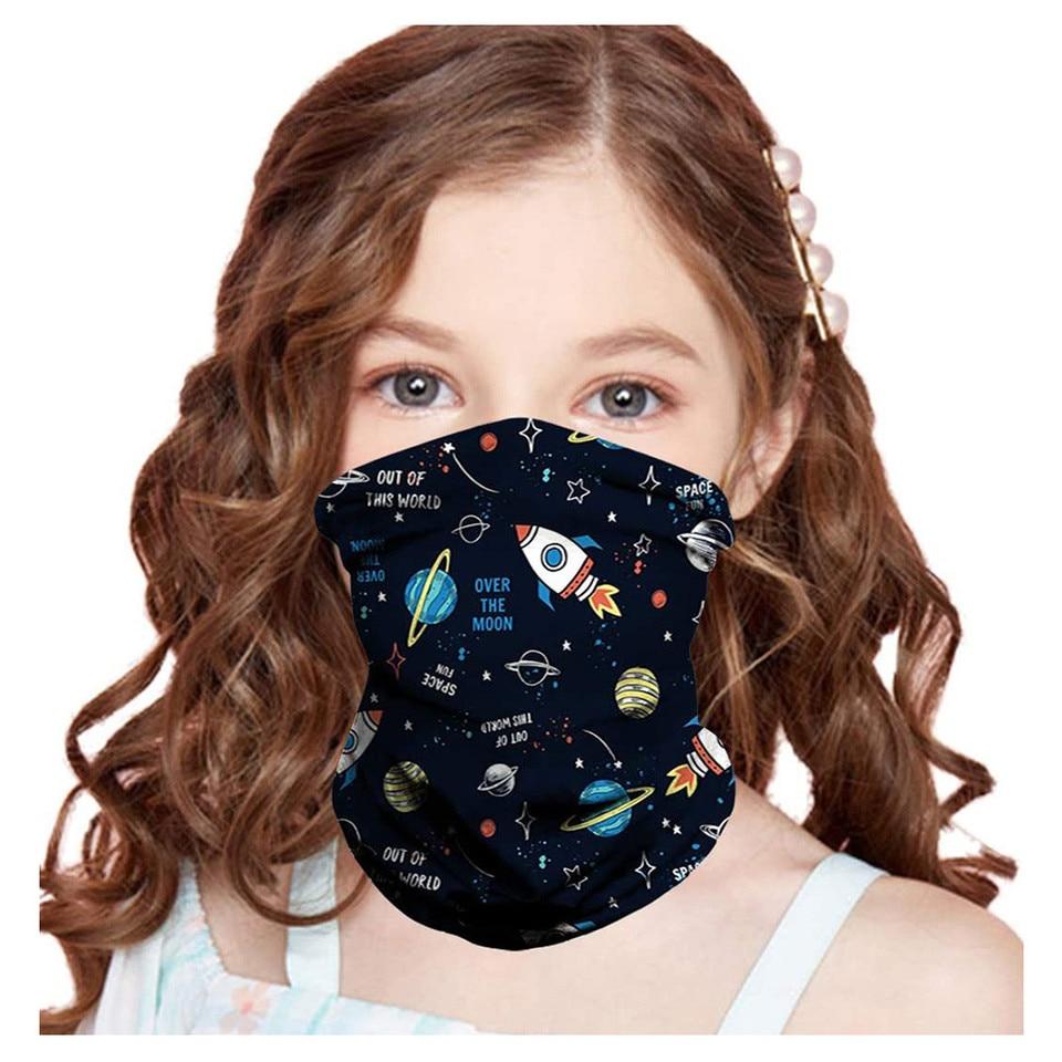1pcs Mask Bibs Headband Printed Ring Scarf Neck Warmers Children Scarf Cotton