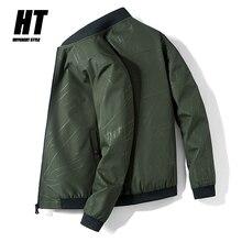 Brand New Men's Bomber Jacket Zipper Casual Pilot Coat Men Clothing Streetwear Fashion Slim Fit Spring Autumn Outerwear Male 4XL