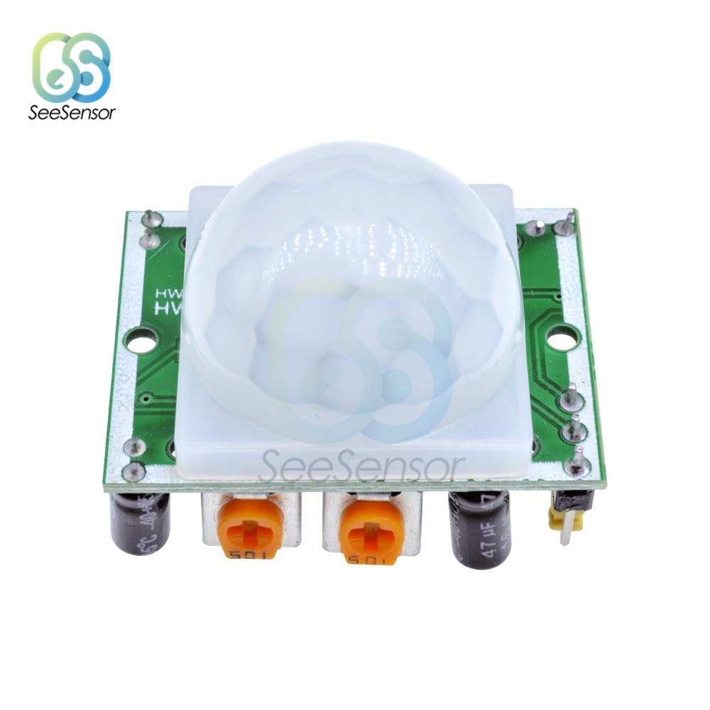HC-SR501 SR501, регулируемый ИК-пироэлектрический инфракрасный датчик движения PIR, модуль детектора для Arduino