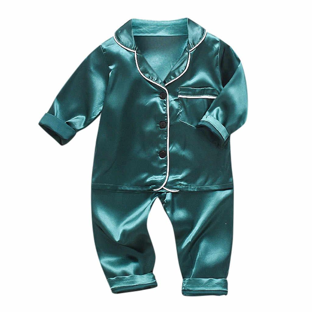 3 色ベビー少年少女ソフト綿パジャマ服セットパジャマナイトウェア衣装新生児のための布の子供服