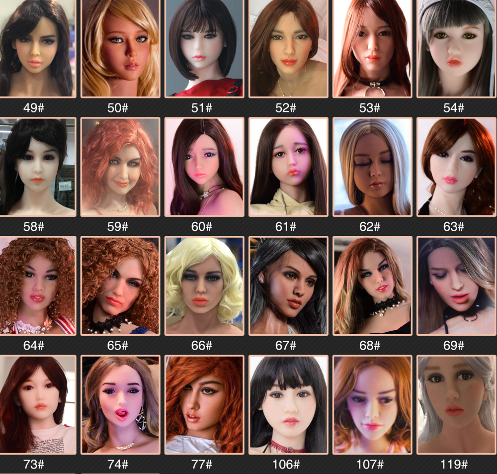 Sell Only Sex Doll Head TPE Heads Options Oral Depth 13cm For Man Support Purchase Separate