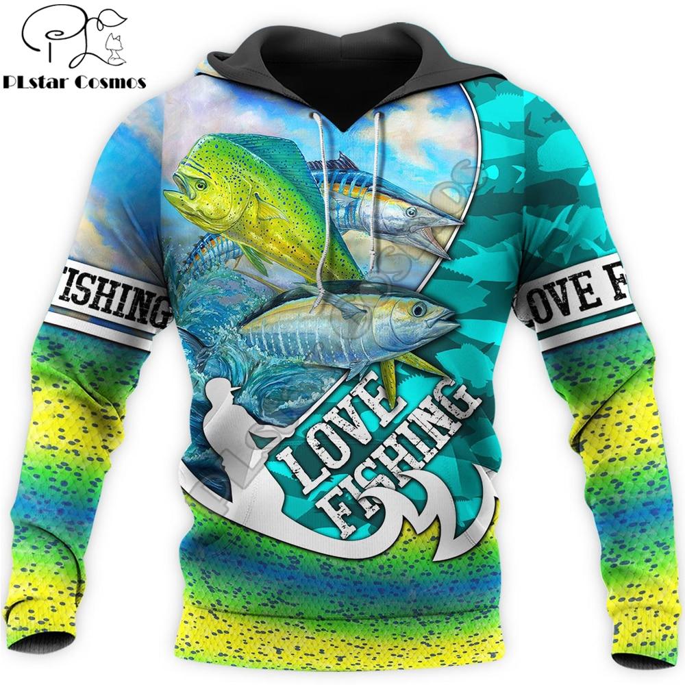 Love Fishing 3D All Over Printed Mens hoodies Harajuku Streetwear Hoodie Unisex Casual Pullover Autumn Jacket Tracksuits KJ0126