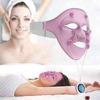 NEW Electric Facial SPA Face Mask Chin Cheek Lift Up Slimming Machine EMS Vibration Beauty Massager Anti-wrinkle Magnet Massage
