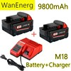 Литий-ионный аккумулятор 18 в 9800 мАч для Milwaukee M18 48-11-1815 48-11-1850 2646-20 2642-21CT, аккумулятор и зарядное устройство