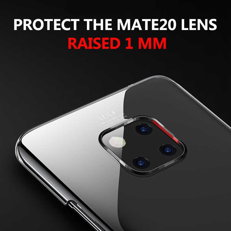 Yishangou claro transparente caso de telefone para huawei p20 lite companheiro 30 20 10 pro plástico duro volta capa para huawei nova 3i 3e caso