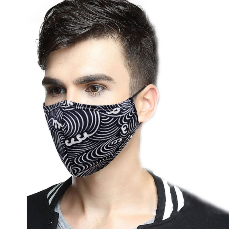 15 Styles Unisex Summer Mesh Breathable Cotton Dust Mouth Mask Anti Pollution PM2.5 Filter Insert Reusable Sunscreen Respirator
