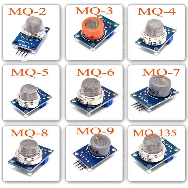 MQ-2 MQ-3 MQ-4 MQ-5 MQ-6 MQ-7 MQ-8 MQ-9 MQ-135 Erkennung Rauch methan verflüssigtes Gas Sensor Modul für Arduino Starter DIY kit