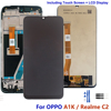 For OPPO Realme C2 LCD Display Touch Screen Digiziter Sensor Assembly Panel For OPPO RMX1941 A1K Lcds With Frame 6.1 Inch