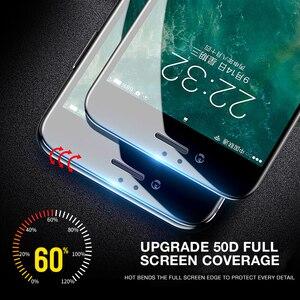 Image 3 - 50D Volle Abdeckung Gehärtetem Glas Für iphone 8 7 Plus 6 6s Glas display schutz Auf Die iphone X XS MAX XR 5 5S SE Schutz Glas